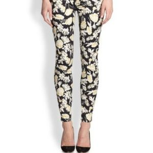7 For All Mankind Floral Skinny Ankle Jeans